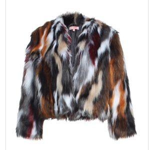 Multi-Colored Faux Fur Vest